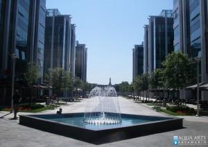 Javna fontana, eksterijer kompleksa Airport city