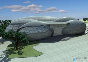 1.Idejni projekat Wellness centra u Banji Vrujci - ulazna fasada