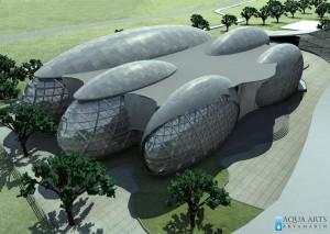 3.Prikaz idejnog rešenja Wellness centra sa zatvorenim bazenima, masažom, saunama, fitnesom i kafeima.