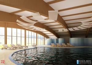 1.Idejno rešenje i glavni projekat zatvorenog bazena u Hotelu Olimp na Zlatiboru, saradnja sa biroom Agencija Arhitekt, Beograd, 2009.