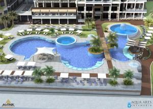 1.Projektovanje bazenske tehnike jednog od najsloženijeg bazenskog kompleksa u regionu, Hotel Rivijera Crystal u Petrovcu