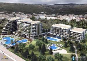 3.Hotelski bazeni od oko 1400 m² vodenih površina sa mnogim vodenim atrakcijama u Petrovcu