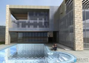 5.Perspektiva korisnika - pogled na Centar i bazen za obuku ronilaca u Podgorici