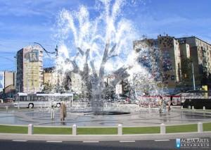 1.Idejno rešenje centralne fontane na Trgu Slavija sa paternim uređenjem kompletnog Trga