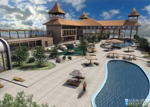 1.Idejno rešenje Turističkog kompleksa u Surduku sa pogledom na Dunav - Hotel, Wellness i otvoreni bazeni