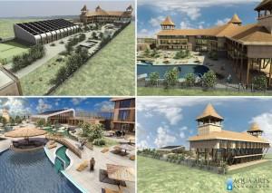 3.Prikazi idejnog rešenja Turističkog Kompleksa: hotela, wellness centra, hale sa zatvorenim bazenom i spoljnim bazenima