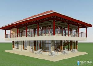 3.Prikaz idejnog rešenja Restorana u Turističkom Kompleksu sa bazenima u Tutinu