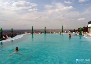 3.Spoljni hotelski bazen, Villa Breg, Vršac, panorama grada