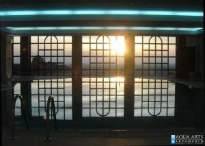 7.Zalazak sunca na zatvorenom bazenu u Hotelu Villa Breg u Vršcu