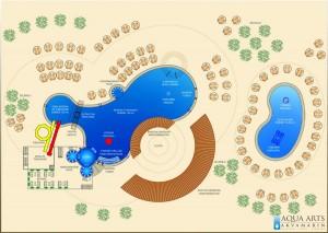 5.Projektovanje novog dela kompleksa sa bazenima i dečijoim toboganima u Magliću
