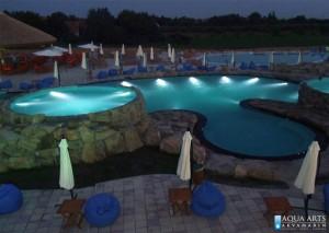 8.Kameni bazen noću, Horizont bazeni u Surduku