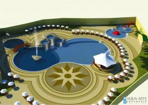 1.Projekat Kompleksa bazena sa prelivnim kadama i spoljnim uređenjem u Tutinu
