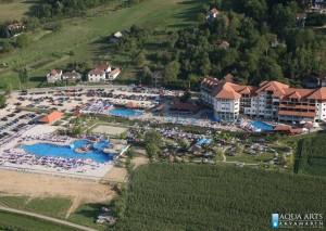 1.Projektovanje i izvođenje bazena i bazenske tehnike u SPA centru u Banji Vrujci - pogled na 7 bazena