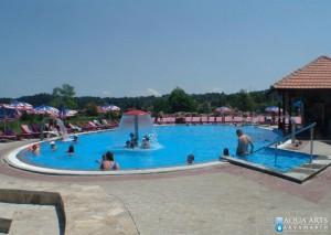 8.Elipsasti bazen sa vodenom pečurkom i hidromasažnim tuševima u SPA kompleksu u Banji Vrujci