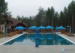 3.Hotelski bazen sa tendom okružen šumom, Zlatiborska noć