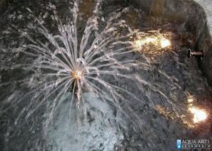 3.Detalj mlaznice sa više mlazeva i podvodnom rasvetom fontane u Beogradu