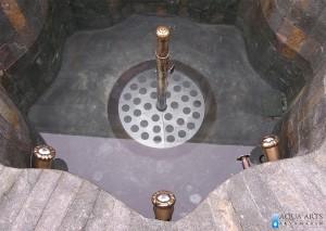 5.Oprema u fontani u spoljnom uređenju vile na Banjici u Beogradu
