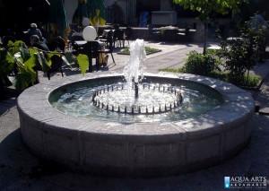 2.Isporuka i montaza opreme fontane u restoranu Golf u Beogradu - detalj centralnog gejzira, 1994