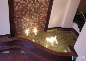 3.Pogled sa galerije na fontanu  u enterijeru banke Voban u Novom Sadu