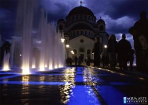 7.Gradska Fontana ispred Hrama Svetog Save u Beogradu, Projekat, izrada podvodne rasvete fontane