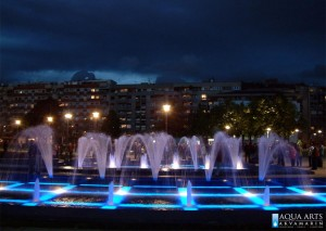 8.Gradska Fontana ispred Hrama Svetog Save u Beogradu, Projekat, podvodna rasveta fontane, isporuka i montaža