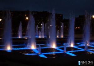 9.Gradska Fontana ispred Hrama Svetog Save u Beogradu, Projekat, izrada elemenata podvodne rasvete fontane