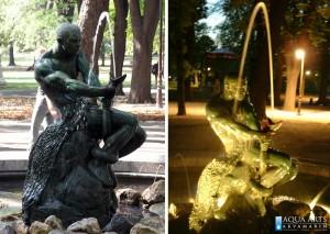 29.Fontana Ribar na Kalemegdanu, Beograd, rasveta za fontanu