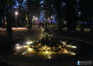 30.Fontana Ribar na Kalemegdanu, Beograd, rasveta za fontanu