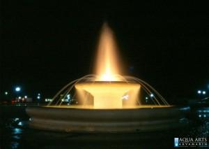 13.Fontana Pobrežje u Podgorici, Noć, Projektovanje i Izrada Fontane