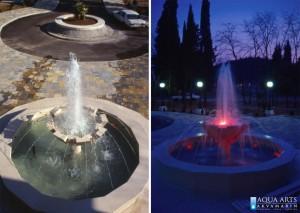 15.Fontana ispred Sale za Vjenčanje u Podgorici, dan i noć, Projektovanje i Izrada Fontane