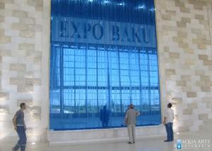 6.Fontana - vodeni zid u Expo Centru, Baku, Azerbejdžan, Projekat, isporuka i montaža opreme