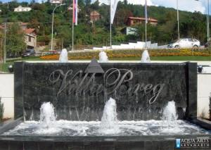 6.Fontana ispred Hotela Villa Breg u Vršcu, Projekat, isporuka i montaža opreme