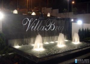 7.Fontana ispred Hotela Villa Breg u Vršcu, noć, Projekat, isporuka i montaža opreme