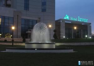 12.Fontana Sfera ispred Hotela Izvor u Aranđelovcu, Projekt i isporuka opreme za fontane
