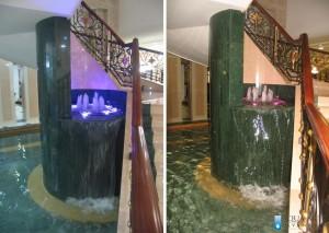 14.Fontana kod Centralnog stepeništa Hotela Izvor u Aranđelovcu, Projekt i isporuka opreme za fontane