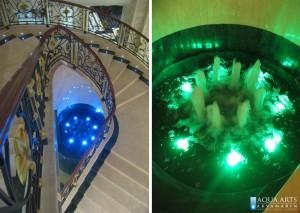 15.Fontana kod Centralnog stepeništa Hotela Izvor u Aranđelovcu, Projekt i isporuka opreme za fontane