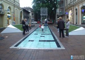 21.Fontana-Interaktivni trotoar, Plato Dr Zorana Đinđića, Subotica, Projekat, Isporuka i montaža opreme