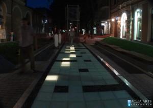 22.Fontana-Interaktivni trotoar, Plato Dr Zorana Đinđića, Subotica, Projekat, Isporuka i montaža opreme