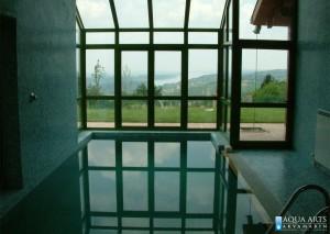 2.Zatvoreni privatni bazen sa vodenim atrakcijama i pogledom na Dunav u Grockoj