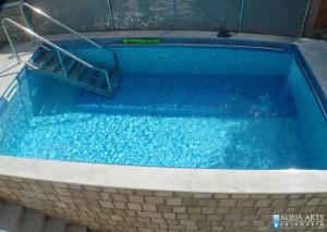 2.Projektovanje, isporuka i montaža opreme za otvoreni privatni bazen, Lepetane, Crna Gora, 2009.