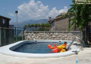 3.Isporuka i montaža opreme za otvoreni privatni bazen sa pogledom Sveti Stefan, Blizikuće, Crna Gora, 2008.