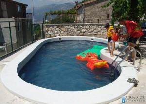 4.Otvoreni privatni bazen, Blizikuće, Crna Gora, 2008.