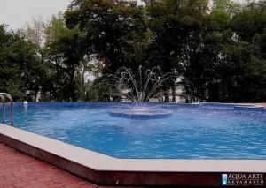 2.Otvoreni bazen sa fontanskom mlaznicom na ostrvu u Smederevu