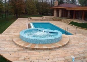 1.Projektovanje, isporuka i montaža opreme za bazen sa kadom i vodenim atrakcijama u rezidenciji na Srebrnom jezeru