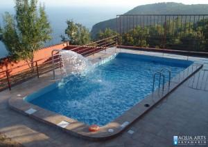 1.Projektovanje, isporuka i montaža opreme za privatni bazen sa vodenim atrakcijama u Sutomoru