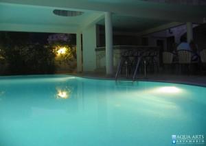 9.Ambijent bazena noću, podvodna rasveta, Vila Perović, Budva