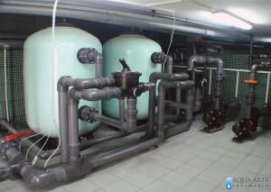 6.Filtersko postrojenje hotelskog bazena u Villi Breg u Vršcu, Projektovanje, Isporuka i montaža opreme