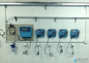 9.Dozir-pumpe sa uređanjem za merenje i automatsko doziranje hemikalija u sklopu filterskog postrojenja
