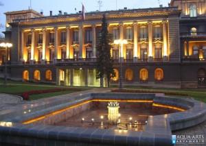 2.Linijska LED rasveta u Fontani između Starog i Novog Dvora u Beogradu