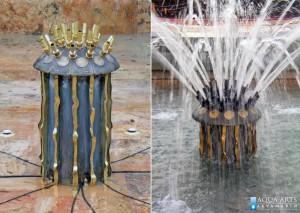 Mlaznica u fontani između starog i novog dvora u Beogradu
